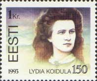 Lydia Koidula, 1v; 1 Kr