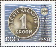Стандарт, Эстонская монета, 1м; 100 Кр