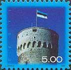 Стандарт, Национальный Флаг Эстонии, самоклейкa, 1м; 5.0 Кр
