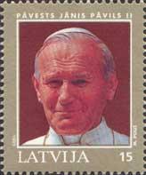 Visit of Pope John Paul II to Latvia, 1v; 15s