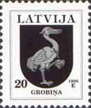 Definitive, Grobina Coat of Arms, 1v; 20s