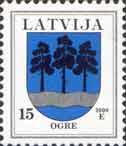 Стандарт, герб Огре, 1м; 15c