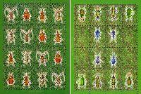 Фауна, Жуки, М/Л из 16м + М/Л из 12м и 4 купонов; 1.50 руб х 16, 4.50 руб х 12