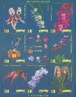 Орхидеи, 2 выпуск, М/Л из 8м и купона; 5.0 руб х 8