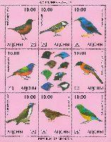 Фауна, Птицы, 3 выпуск, М/Л из 8м и купона; 10.0 руб х 8