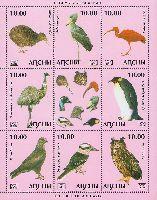 Фауна, Птицы, 4 выпуск, М/Л из 8м и купона; 10.0 руб х 8