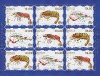 Фауна моря, 1 выпуск, Креветки, синий фон, М/Л из 3 серий