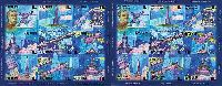 История освоения космоса, беззубцовые 2 М/Л из 9м; 10.0 руб х 18