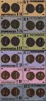 Старинные монеты, тет-беши, 12м; 0.70, 4.75, 6.50, 12.10, 12.90, 13.80 руб х 2