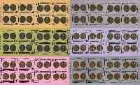 Старинные монеты, 6 М/Л из 8 серий