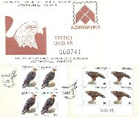Fauna. Eagles, Booklet of 4v; 20, 25 M x 4