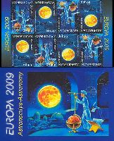 ЕВРОПА'09, Астрономия, буклет из 4 серий