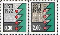 Christmas'92, fluorescent paper, 2v; 30s, 2 Kr