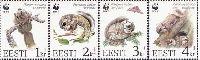 WWF, Flying Squirrel, 4v; 1, 2, 3, 4 Kr