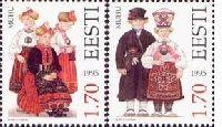Folk costumes, 2v; 1.70 Kr x 2