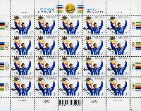 Эрки Ноол - победитель Олимпиады в Сиднее'2000, малый лист тип II, М/Л из 20м; 4.40 Кр x 20