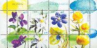 Флора, Весенние цветы, М/Л из 4м; 4.40 Кр x 4