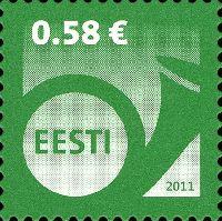 Стандарт, Почтовый рожок, самоклейка, 1м; 0.58 Евро