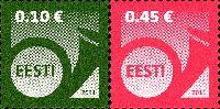 Стандарты, Почтовый рожок, самоклейки, 2м; 0.10, 0.45 Евро