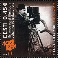 100-летие эстонского кино, 1м; 0.45 Евро