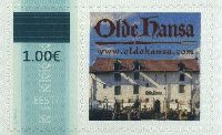Надпечатка нового номинала на № 351 (Собственная марка), 1м; 1.0 Евро