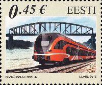 Совместный выпуск Эстония-Латвия-Литва, Железнодорожные мосты, 1м; 0.45 Евро