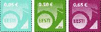 Стандарты, Почтовый рожок, самоклейки, 3м; 0.05, 0.50, 0.65 Евро