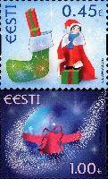 Рождество'13, самоклейки, 2м; 0.45, 1.0 Евро