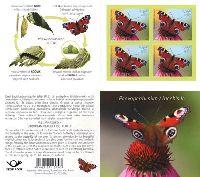 Фауна, Бабочка, самоклейка, буклет из 4м; 0.45 Евро x 4
