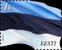 Стандарт, Национальный Флаг Эстонии, самоклейка, 1м; 1.0 Евро