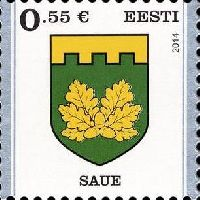 Стандарт, Герб города Сауэ, самоклейка, 1м; 0.55 Евро