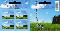 Виды Эстонии, Жираф, самоклейка, буклет из 4м; 1.20 Евро х 4