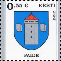 Стандарт, Герб города Пайде, самоклейка, 1м; 0.55 Евро