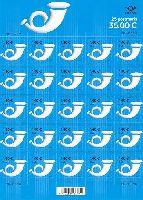 Стандарт, Почтовый рожок, самоклейка, М/Л из 25м; 1.40 Евро x 25