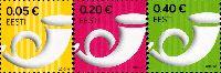 Стандарты, Почтовый рожок, самоклейки, 3м; 0.05, 0.20, 0.40 Евро