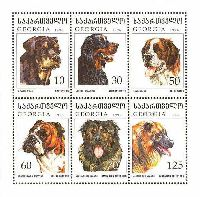 Fauna, Dogs, M/S of 6v; 10, 30, 50, 60, 70, 125t