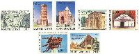 Monuments of history & culture, imperforated, 7v; 0.10, 0.50, 1.0 + 0.25, 2.0 + 0.50, 3.0, 5.0 + 0.50, 9.0 R