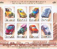 Автомобили, беззубцовый M/Л из 8м; 3.60, 10.0, 15.0, 25.0 С x 2