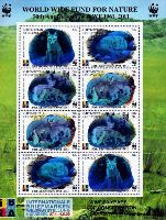50 лет WWF, Надпечатки на № 063 (WWF, Лисицы, Фил. выставка IBRA), М/Л из 8м с голограммами; 10, 10, 60, 90 C x 2