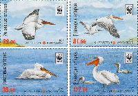 WWF, Пеликаны, 4м; 22, 31, 39, 117 С