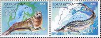 Совместный выпуск Казахстан-Украина, Фауна, 2м в сцепке; 20, 35 T