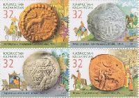 Древние монеты, 4м в квартблоке; 32 T х 4