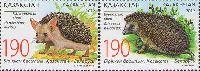 Совместный выпуск Казахстан-Беларусь, Фауна, Ежи, 2м в сцепке; 190 Т х 2
