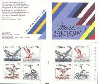 Lithuania-Estonia-Latvia joint issue, Mare Balticum Birds, Booklet of 2 sets