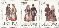 Folk costumes, 3v; 20, 70ct, 1 Lt