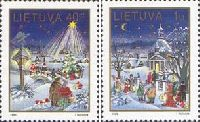 Christmas'95, 2v; 40ct, 1 Lt
