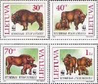 WWF, Зубры, 4м; 30, 40, 70ц, 1 Лит