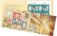 75 лет Союзу филателистов Литвы, буклет из 10м; 1.0 Лит x 10
