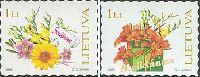 Цветы, Поздравления, самоклейки, 2м; 1.0 Лит х 2