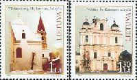 Церкви Каунаса и Вильнюса, 2м; 1.0, 1.30 Литa